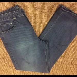 Calvin Klein relaxed straight jeans.
